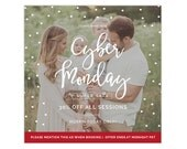 SALE Cyber Monday Marketing Template for Photographers, Holiday Marketing Template, Advertisement Template, Photoshop Templates AD230