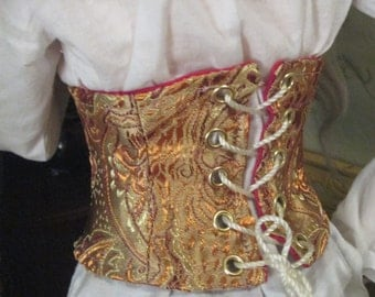Clearance Sale-BJD MSD and 70cm Boys Gold Brocade  Corset