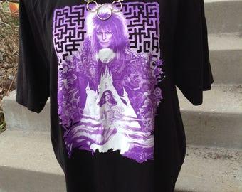 Vintage hipster Labyrinth black tshirt size 2x free domestic shipping