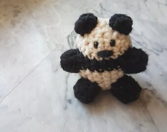 Panda Crochet Black White Adorable
