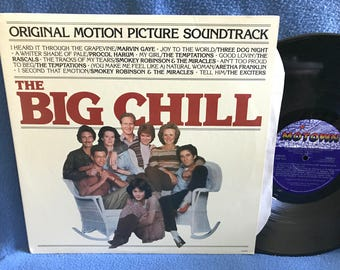 "Vintage, ""The Big Chill"" Original Soundtrack, Vinyl LP, Record Album, Marvin Gaye, The Temptations, Aretha Franklin, Three Dog Night, Motown"