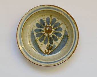 Pottery Dish with Flower Design