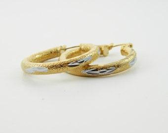 Gold and Silver Hoop Earrings - OE48