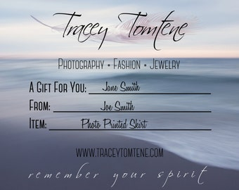 Gift Certificate - Photo Skirt