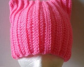 Pussycat Hat - Support Woman's Rights - Pink Cat Hat - Pussyhat - Pussyhat Project - Pink Pussycat Hat