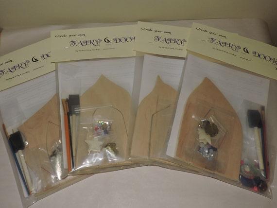 Diy create your own ooak elf fairy door kit fae door for Diy fairy house door