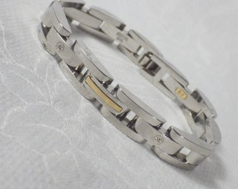 Men's Gold and Diamond Bracelet
