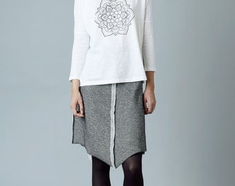 "Knitwear skirt ""tawari"", grey mixed"