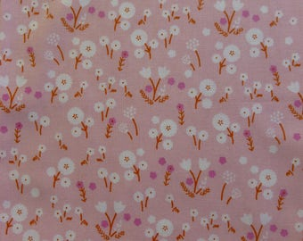 1/2 Yard Organic Cotton Fabric - Cloud 9 Fabrics, Stay Gold, Marigold Blossom