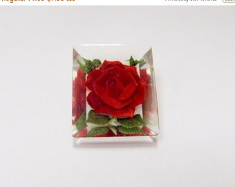 On Sale Vintage Reverse Carved Lucite Floral Pin Item K # 390