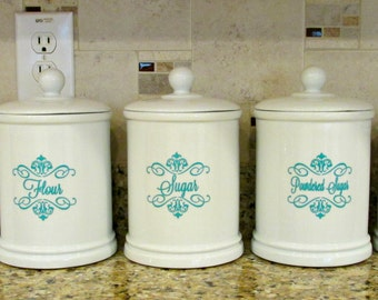 Custom Vinyl Kitchen Label Decal, Vinyl Name Decal, Name Decal, Tags
