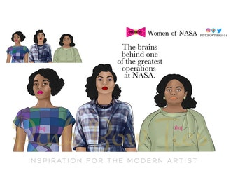 Women of Nasa for Erin Condren, Happy Planner, Recollections and Traveler's Notebooks