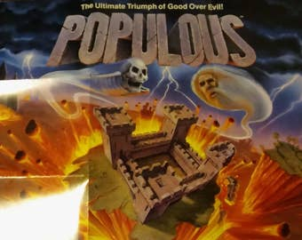 Populous Game Insert Poster