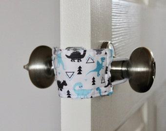 Don't Wake Dino (3 PACK) Door Silencer, Door Jammer, Nursery Door Silencer, Door cushion, Door latch cover, baby shower gift, LATCHY CATCHY