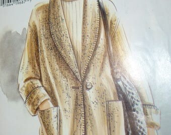 Vintage Vogue Pattern 9057 for Misses' Jacket with Shawl Collar Ultra E Z by Vogue