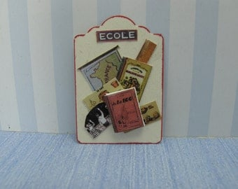 Dollhouse Exhibitor school material for shops or children's rooms back to school ,ecole children book handmade, display nursery