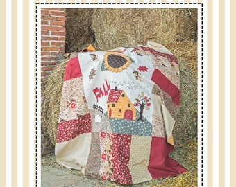 Pdf Sewing Pattern- Fall in Love TABLECLOTH - Tablecloth sewing pattern, Quilt sewing pattern, Patchwork Tablecloth