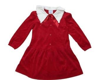 Vintage 90s Red Velvet Dress   5 Years