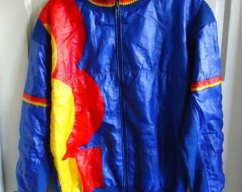 Vintage 70s/80s Lightweight Wool Nylon Ski Jacket sz S/M