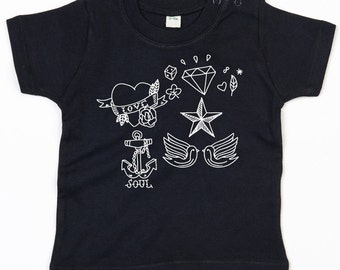 Vintage tattoo graphical toddler t-shirt