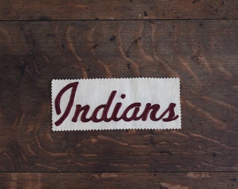 Indians fabric swatch/embroidery/sports/embelleshment/wall decor/