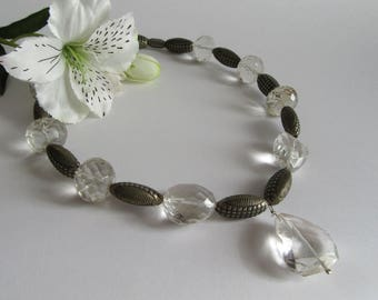 India Crystal and Silver Necklace.