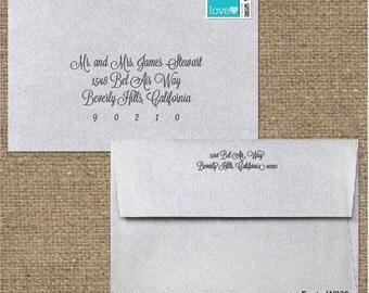 Custom Wedding Digital Calligraphy Envelope Addressing Printing - Font W330
