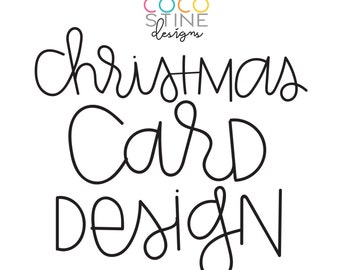 Christmas Card Design - Your photo, my design!