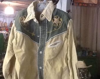 Vintage 1950's Boy's Cowboy Shirt