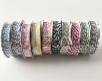 American Crafts Bakers Twine Set of 10 Spools