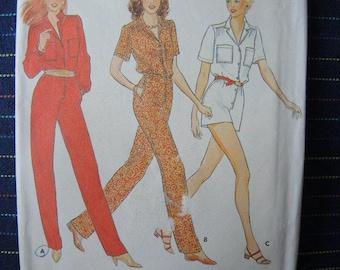 vintage 1980s Butterick sewing pattern 4218 misses  jumpsuit size 8