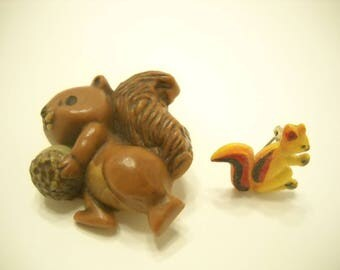 Two Vintage Squirrel Brooches (7303)