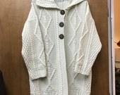 Vintage Blarney Woollen Mills Cardigan Made In Ireland XL