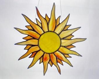 Sun Stained Glass , Window Decor, Suncatcher, Glass Art