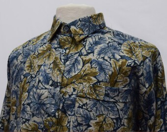 Fade Floral Print Long Sleeved Shirt