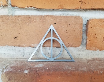 Harry Potter,Deathly Hollows, Metal Sign, HP, Harry Potter Fan, Potter Fans,Cosplay,Comic Con