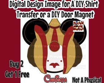 Digital Star Wars Queen Amidala Shirt Transfer Personalized Image DIY Minnie Ears Mouse Head Shirt Matching Shirts Amidala Mouse Head