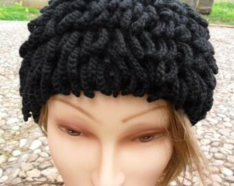 Inspired by Billy Gibbons hat - ZZ Top Beanie - Bamileke Nudu Hat - Handmade crochet