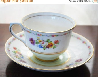 Colclough Tea cup and saucer Fine Bone China Floral