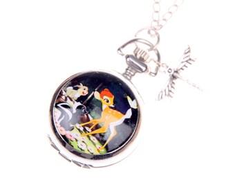 Necklace Pocket watch Bambi 2222m