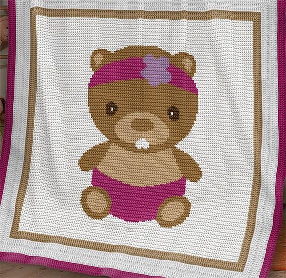 Knitting Graph Paper Uk : Crochet pattern baby blanket beaver graph