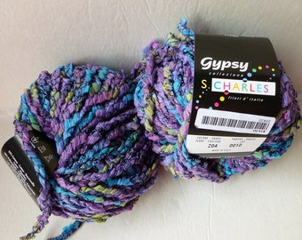 Yarn Sale  - Blue, Purple and Green 204 Gypsy by Stacy Charles