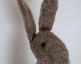 Needle Felted Smokey Grey Rabbit/Hare