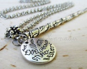Hermione Wand Necklace - Made With Exclusive Custom Designed Harry Potter Round Charms