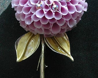 "Vintage Flower Brooch - ""Lovely in Lavender"""