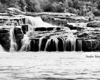 Black and White of Kanawha Falls, West Virginia, fine art photography