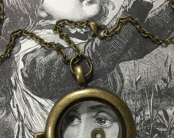 The Number Eight Locket Necklace Pocket Watch Locket Wearable Art Necklace Victorian Jewelry Art Necklace On Etsy Victorian Woman Locket