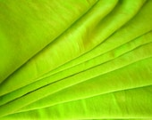 "Lime Green Upholstery Cotton Velvet Fabric 45"" Wide Per Yard"