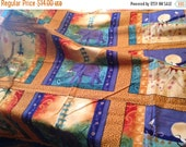 SALE African animal fabric... rare OOP Julia Cairns fabric... 9 quilt blocks, more than 1 yard