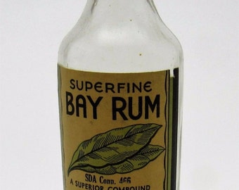 Vintage Superfine Bay Rum After Shaving Face Lotion by Viviny Associated 4 oz.